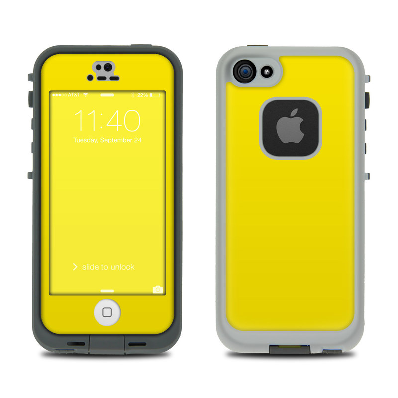 Solid State Yellow LifeProof iPhone SE, 5s fre Case Skin