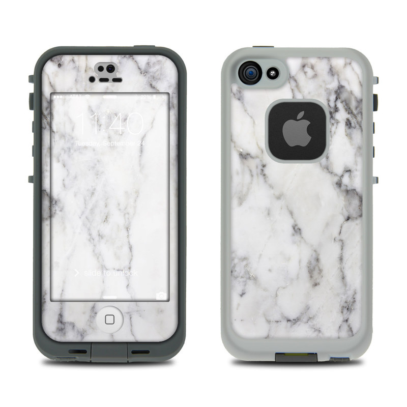 White Marble LifeProof iPhone SE, 5s fre Skin
