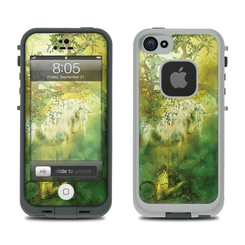 LifeProof iPhone 5 fre Case Skin design of Nature, Green, Painting, Art, Visual arts, Watercolor paint, Illustration, Modern art, Still life with green, black, gray colors