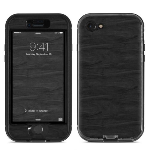 Black Woodgrain LifeProof iPhone 8 nuud Case Skin