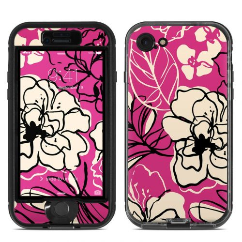 Black Lily LifeProof iPhone 7 nuud Skin