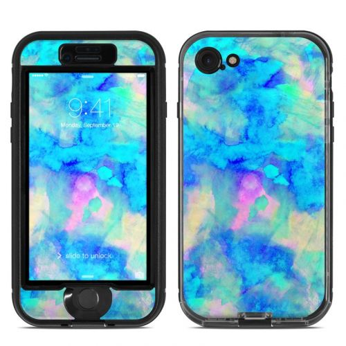Electrify Ice Blue LifeProof iPhone 8 nuud Case Skin