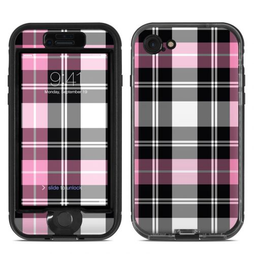 Pink Plaid LifeProof iPhone 7 nuud Skin