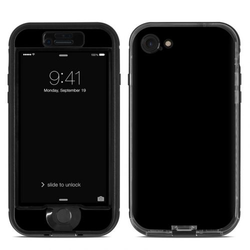 Solid State Black LifeProof iPhone 8 nuud Case Skin
