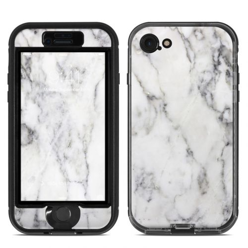 White Marble LifeProof iPhone 8 nuud Case Skin