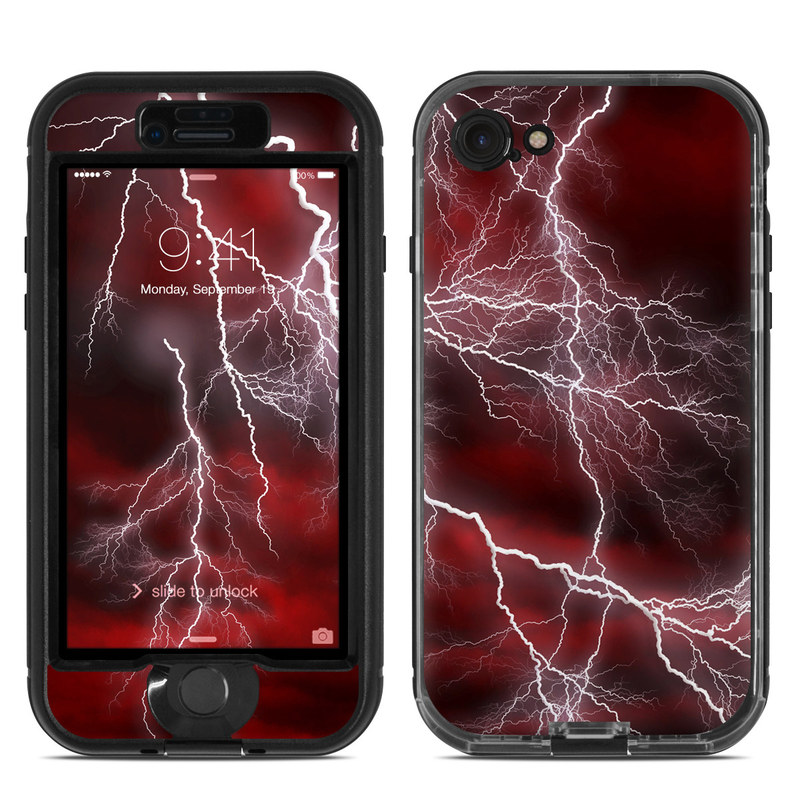 Apocalypse Red LifeProof iPhone 8 nuud Case Skin