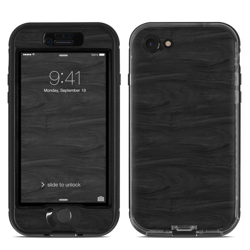 Black Woodgrain LifeProof iPhone 7 nuud Case Skin