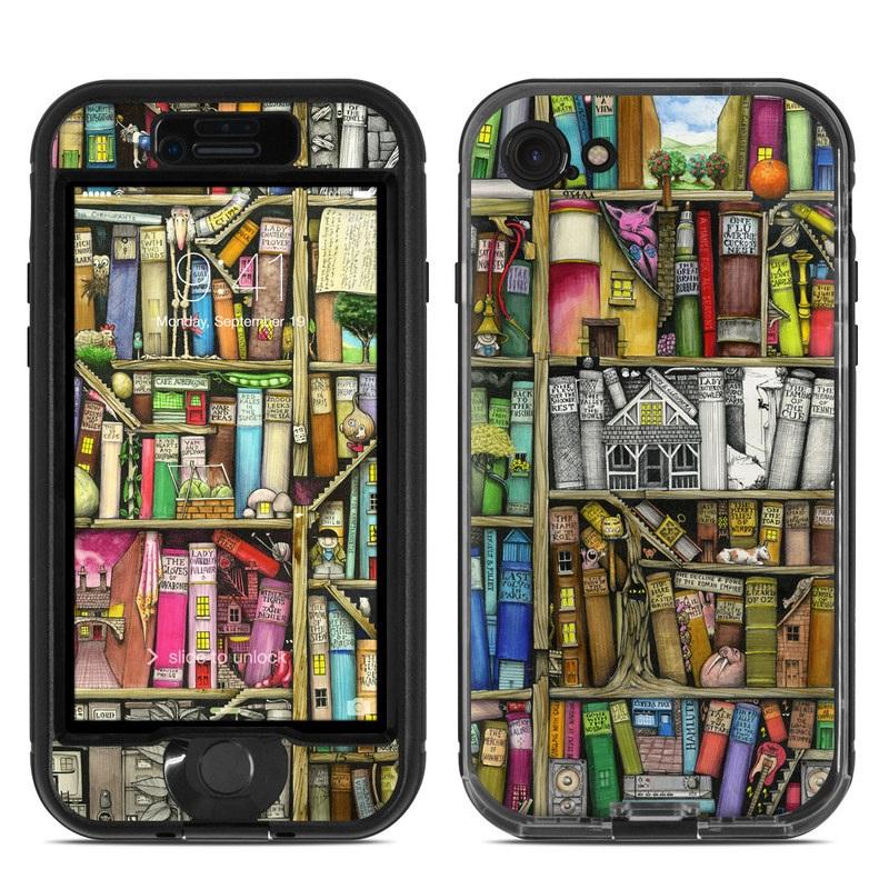 Bookshelf LifeProof iPhone 8 nuud Case Skin
