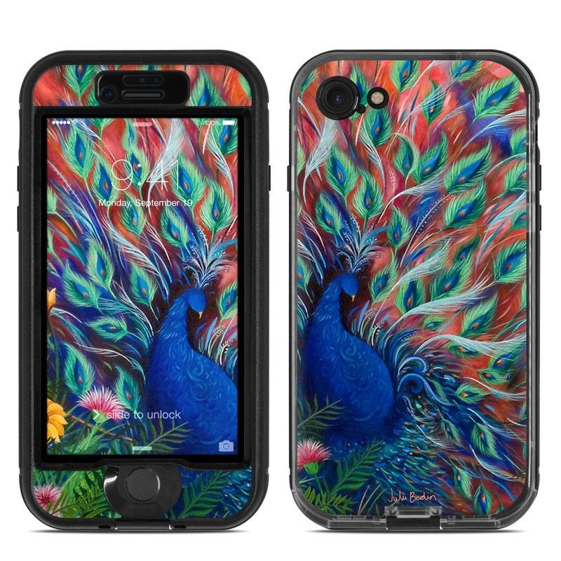 Coral Peacock LifeProof iPhone 7 nuud Case Skin