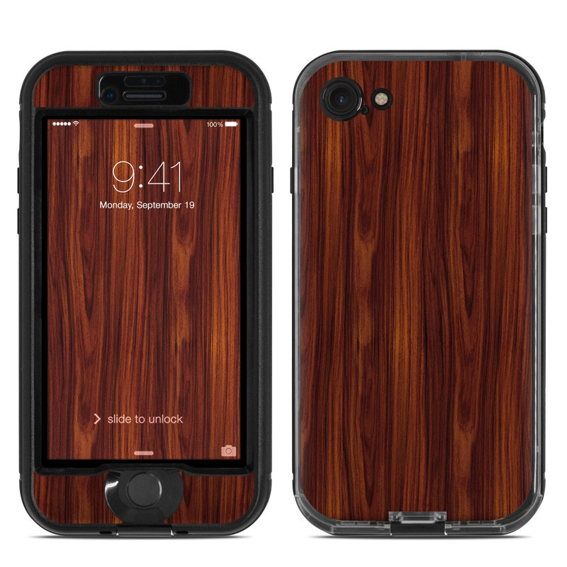 Dark Rosewood LifeProof iPhone 7 nuud Case Skin