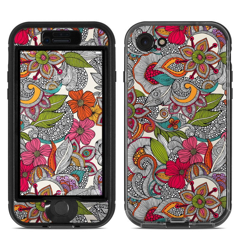 Doodles Color LifeProof iPhone 8 nuud Case Skin