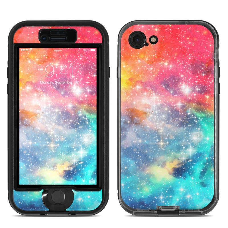 LifeProof iPhone 8 nuud Case Skin design of Nebula, Sky, Astronomical object, Outer space, Atmosphere, Universe, Space, Galaxy, Celestial event, Star with white, black, red, orange, yellow, blue colors