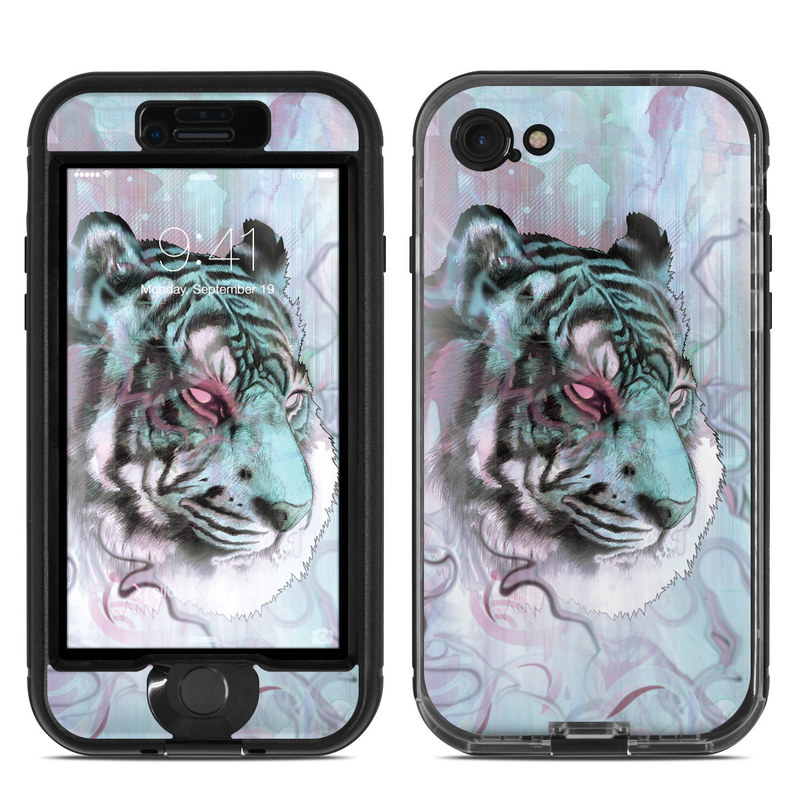 LifeProof iPhone 8 nuud Case Skin design of Watercolor paint, Illustration, Art, Visual arts, Drawing, Graphic design, Pattern, Painting, Acrylic paint, Fictional character with gray, purple, black colors