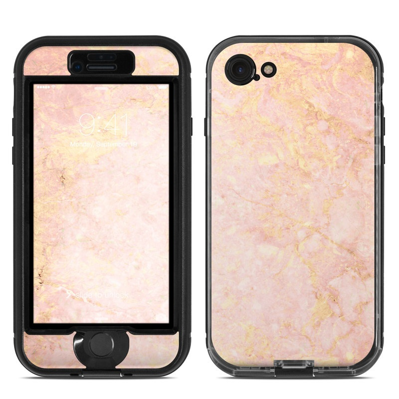 Rose Gold Marble Lifeproof Iphone 8 Nuud Case Skin Istyles