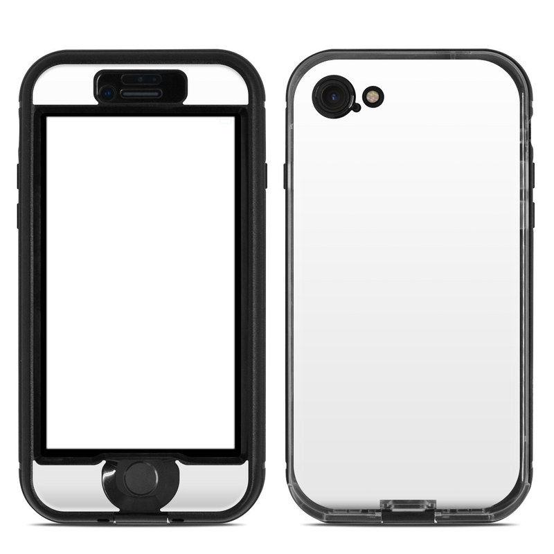Solid State White LifeProof iPhone 7 nuud Case Skin