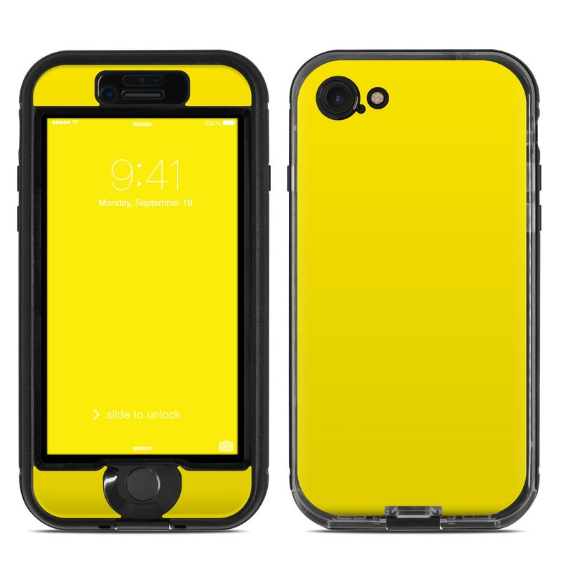Solid State Yellow LifeProof iPhone 8 nuud Case Skin