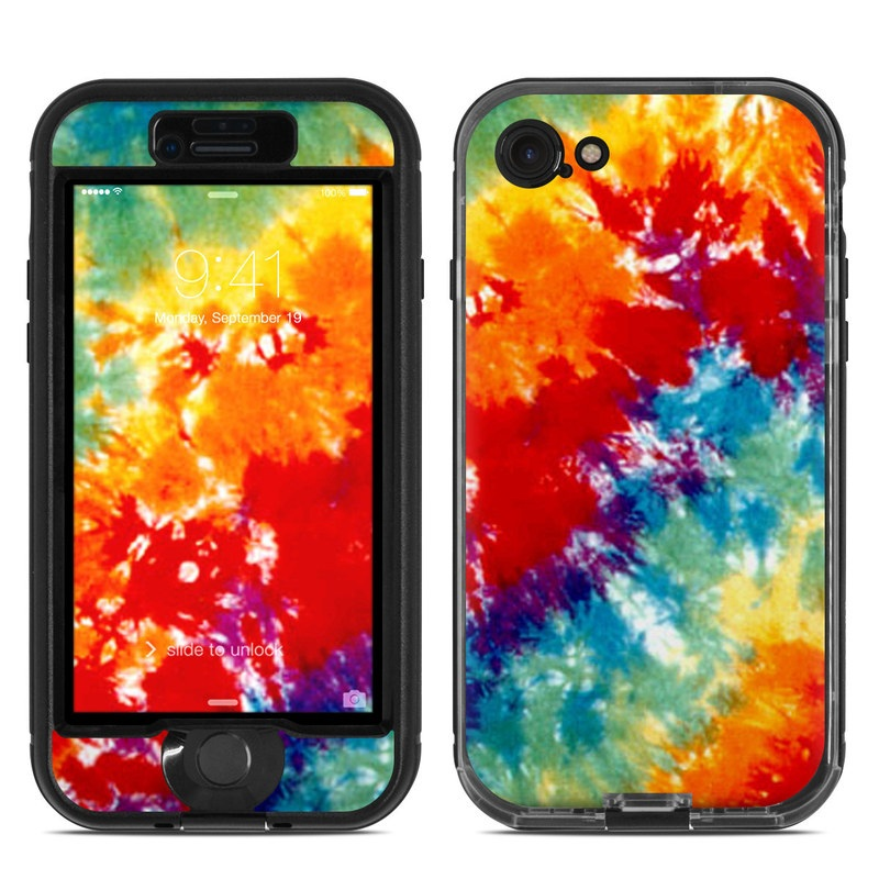 LifeProof iPhone 8 nuud Case Skin design of Orange, Watercolor paint, Sky, Dye, Acrylic paint, Colorfulness, Geological phenomenon, Art, Painting, Organism with red, orange, blue, green, yellow, purple colors