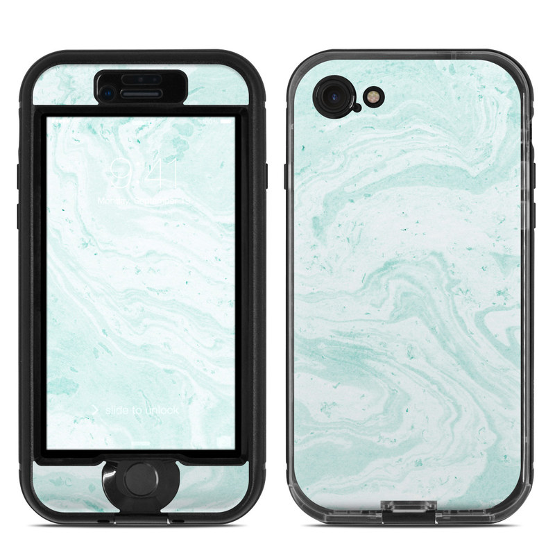 Winter Green Marble LifeProof iPhone 8 nuud Case Skin