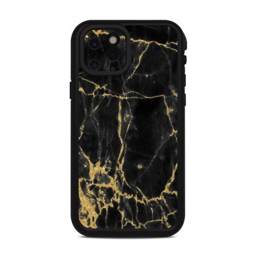 Black Gold Marble Lifeproof iPhone 11 Pro fre Case Skin