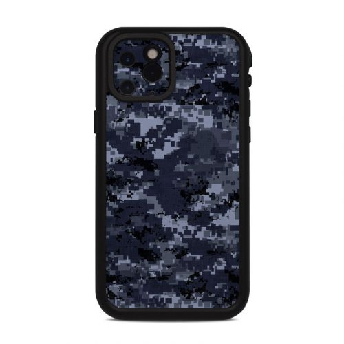 Digital Navy Camo Lifeproof iPhone 11 Pro fre Case Skin