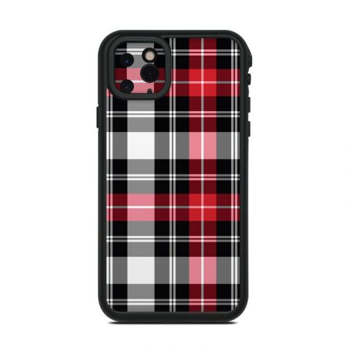 Red Plaid Lifeproof iPhone 11 Pro Max fre Case Skin