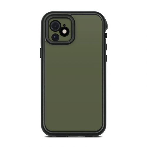 Solid State Olive Drab Lifeproof iPhone 12 fre Case Skin