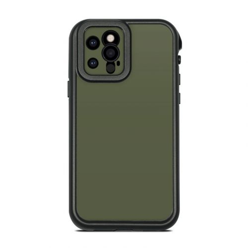 Solid State Olive Drab Lifeproof iPhone 12 Pro fre Case Skin