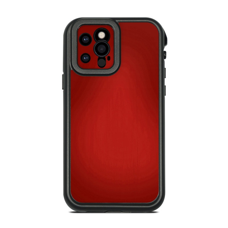 Lifeproof iPhone 12 Pro fre Case Skin design of Red, Maroon, Orange, Brown, Peach, Pattern, Magenta with red colors