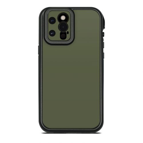 Solid State Olive Drab Lifeproof iPhone 12 Pro Max fre Case Skin