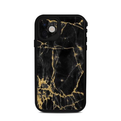 Black Gold Marble Lifeproof iPhone 11 fre Case Skin