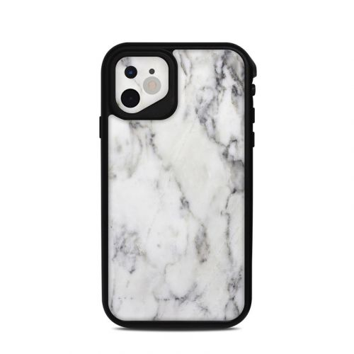 White Marble Lifeproof iPhone 11 fre Case Skin