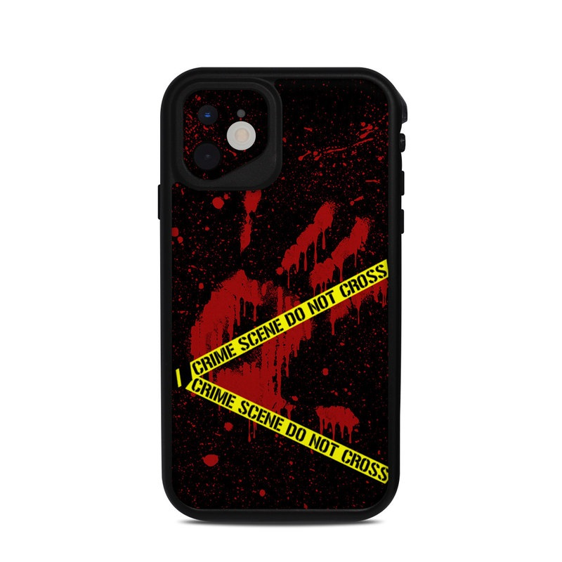 Lifeproof iPhone 11 fre Case Skin design of Red, Black, Font, Text, Logo, Graphics, Graphic design, Room, Carmine, Fictional character with black, red, green colors