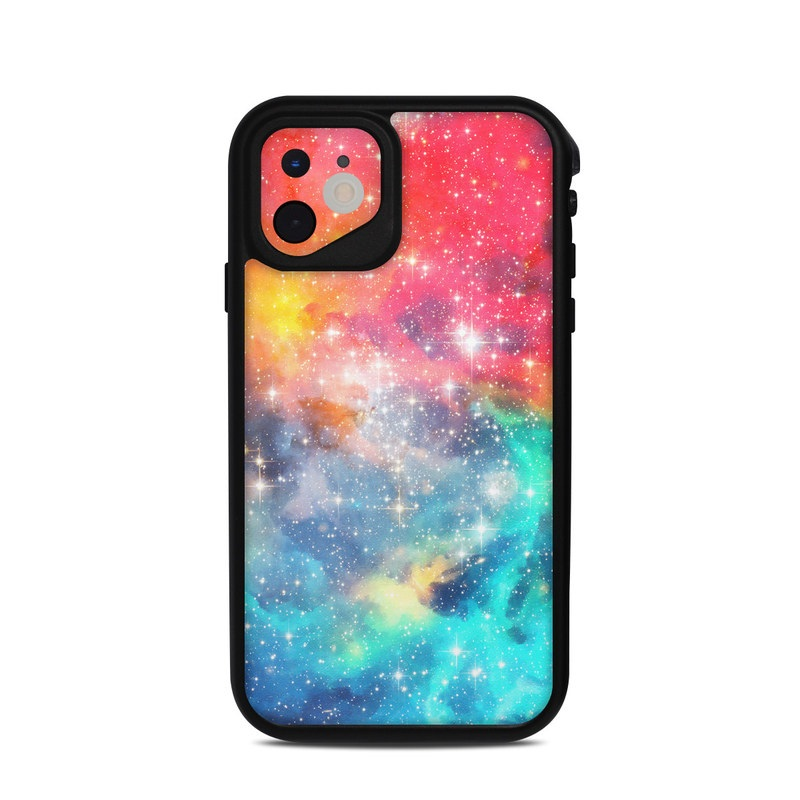 Lifeproof iPhone 11 fre Case Skin design of Nebula, Sky, Astronomical object, Outer space, Atmosphere, Universe, Space, Galaxy, Celestial event, Star with white, black, red, orange, yellow, blue colors