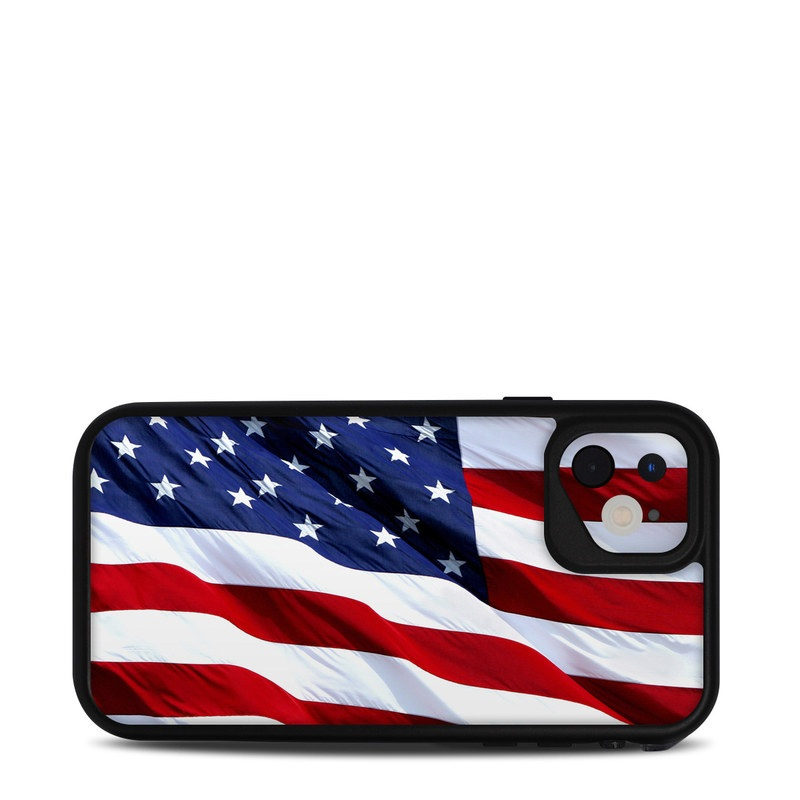 Lifeproof iPhone 11 fre Case Skin design of Flag, Flag of the united states, Flag Day (USA), Veterans day, Memorial day, Holiday, Independence day, Event with red, blue, white colors