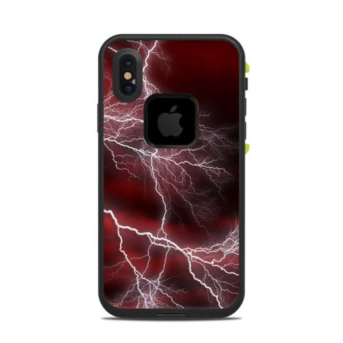 Apocalypse Red LifeProof iPhone X fre Case Skin