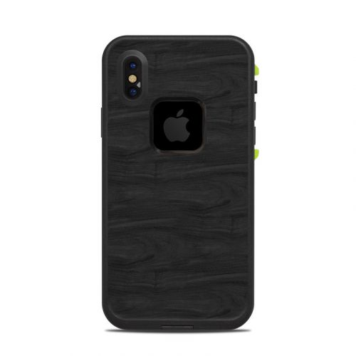 Black Woodgrain LifeProof iPhone X fre Case Skin