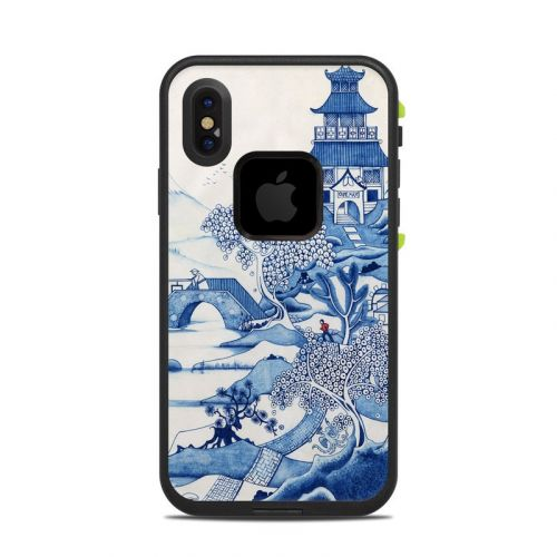 Blue Willow LifeProof iPhone X fre Case Skin