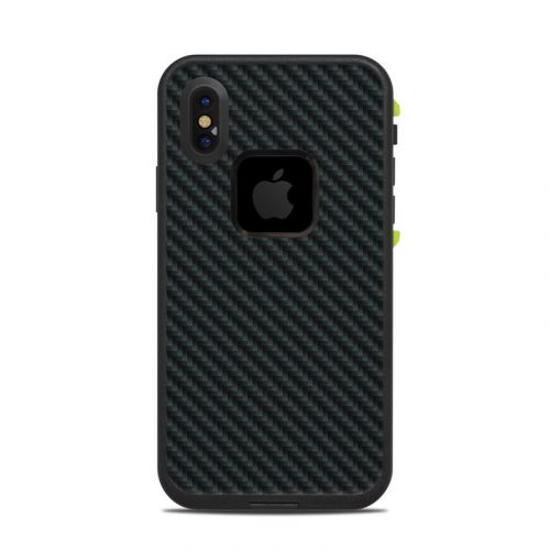 Carbon LifeProof iPhone X fre Case Skin