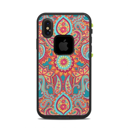 Carnival Paisley LifeProof iPhone X fre Case Skin