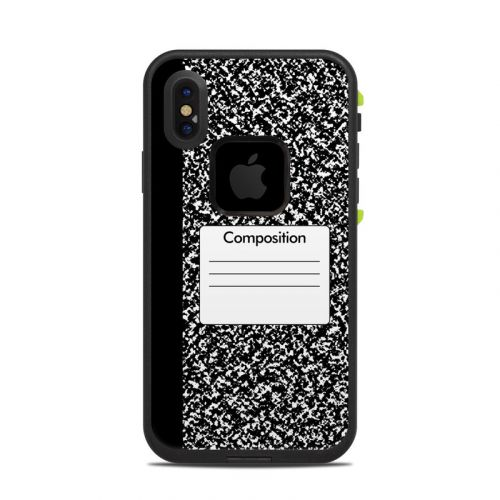 Composition Notebook LifeProof iPhone X fre Case Skin
