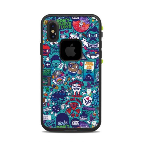 Cosmic Ray LifeProof iPhone X fre Case Skin
