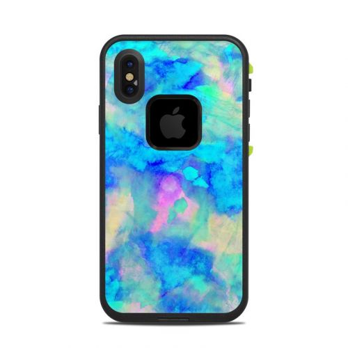 Electrify Ice Blue LifeProof iPhone X fre Case Skin