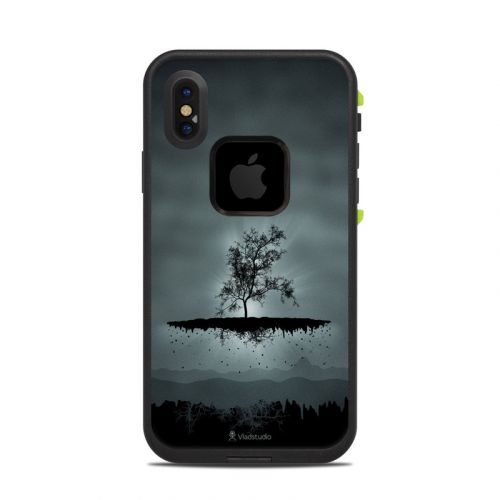Flying Tree Black LifeProof iPhone X fre Case Skin