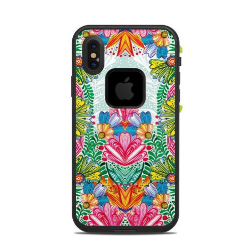 Jungle Flowers LifeProof iPhone X fre Case Skin