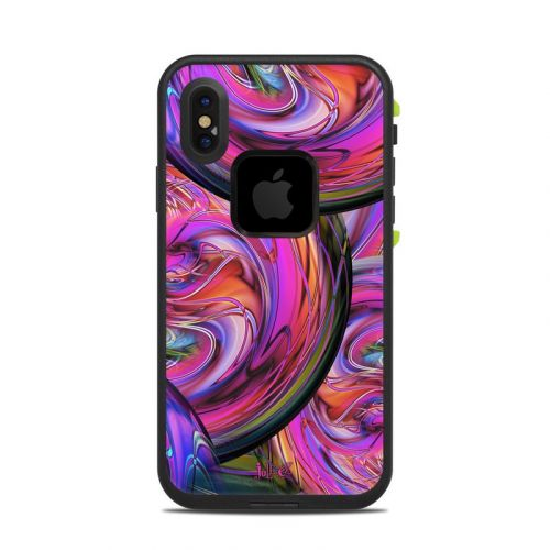 Marbles LifeProof iPhone X fre Case Skin