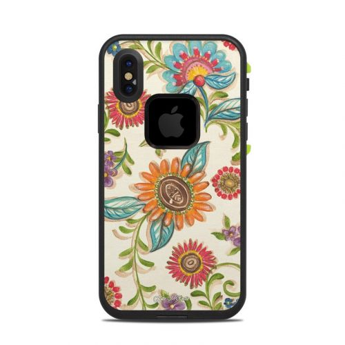 Olivia's Garden LifeProof iPhone X fre Case Skin