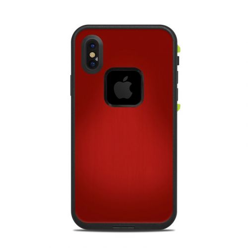 Red Burst LifeProof iPhone X fre Case Skin