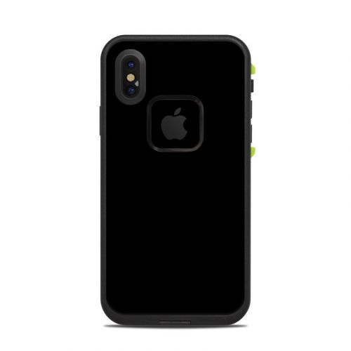 Solid State Black LifeProof iPhone X fre Case Skin