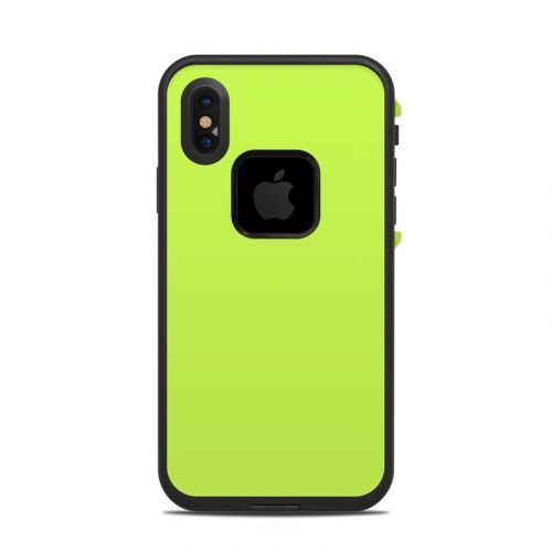 Solid State Lime LifeProof iPhone X fre Case Skin