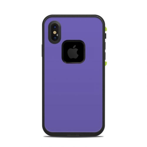 Solid State Purple LifeProof iPhone X fre Case Skin